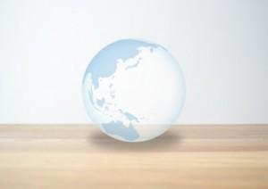 白い地球儀