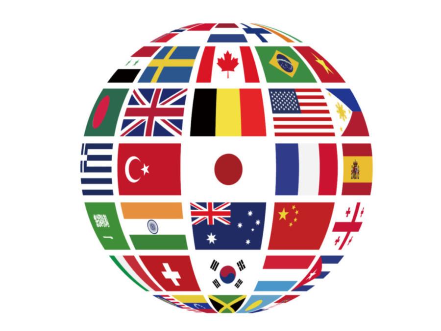 国旗地球儀